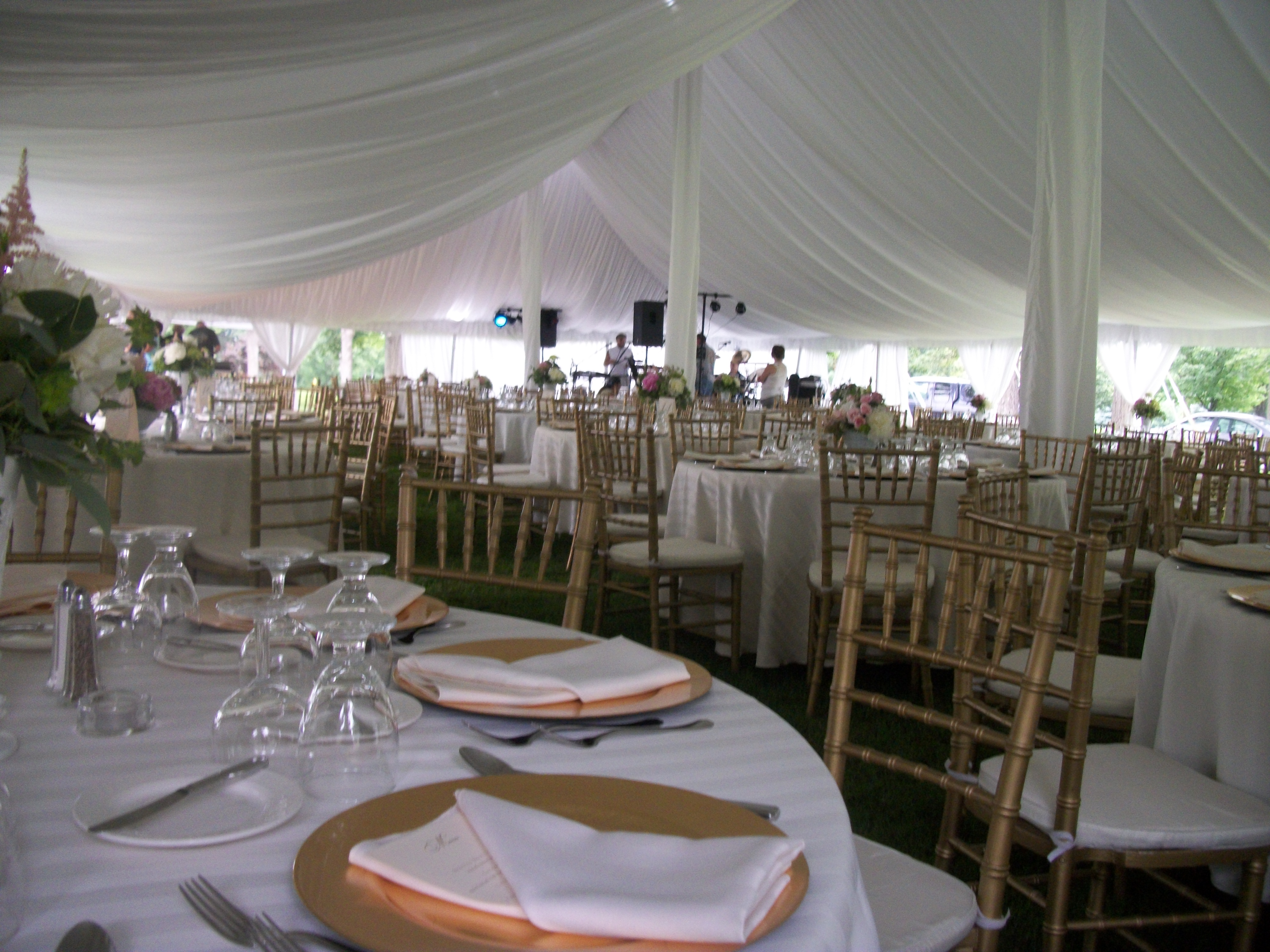 Party palace outdoor wedding event and party rentals tent liner tent liner photos tent rentals page wedding page get qoute junglespirit Images