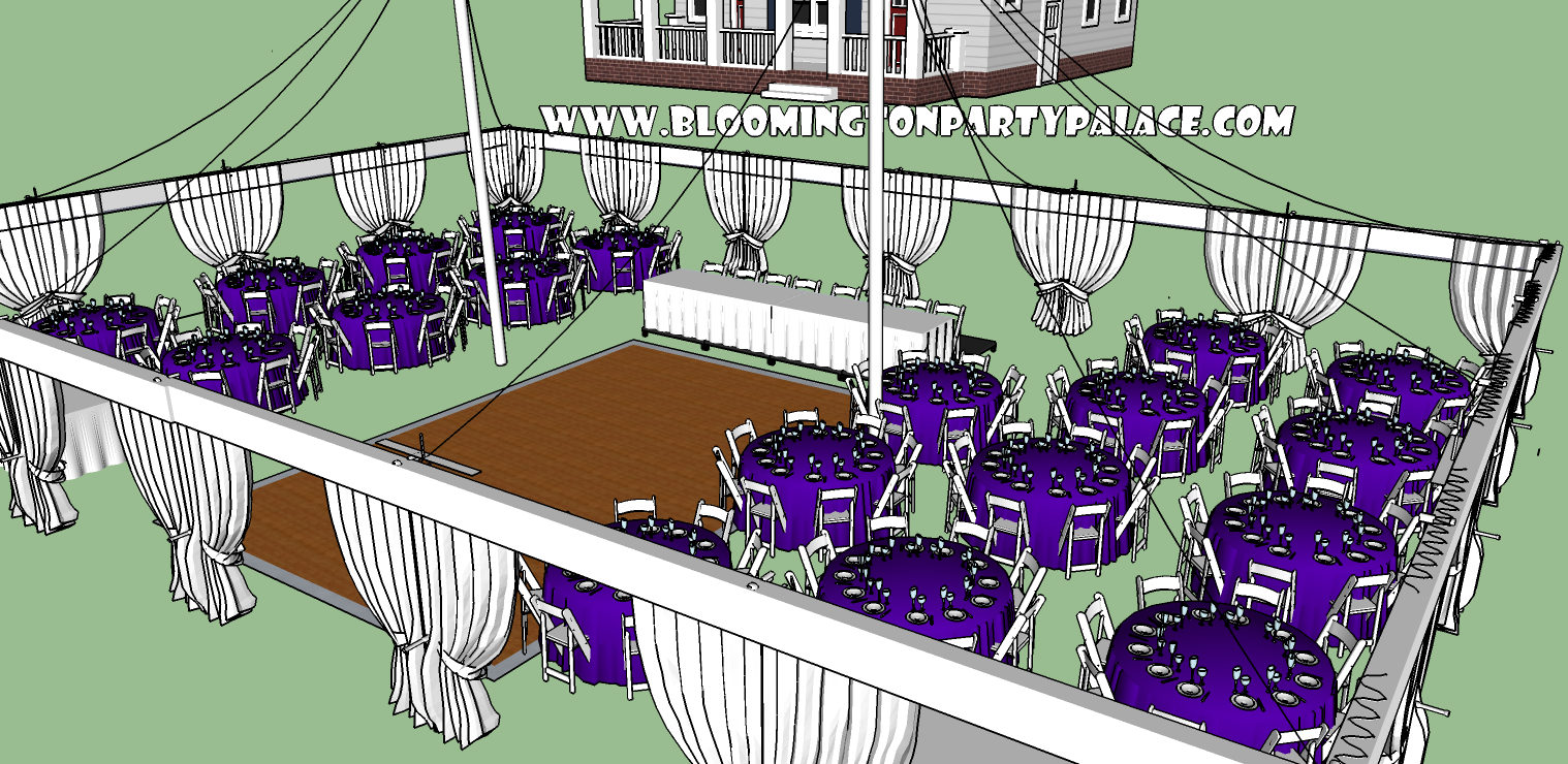 Party Palace Outdoor Wedding Event And Rentals C